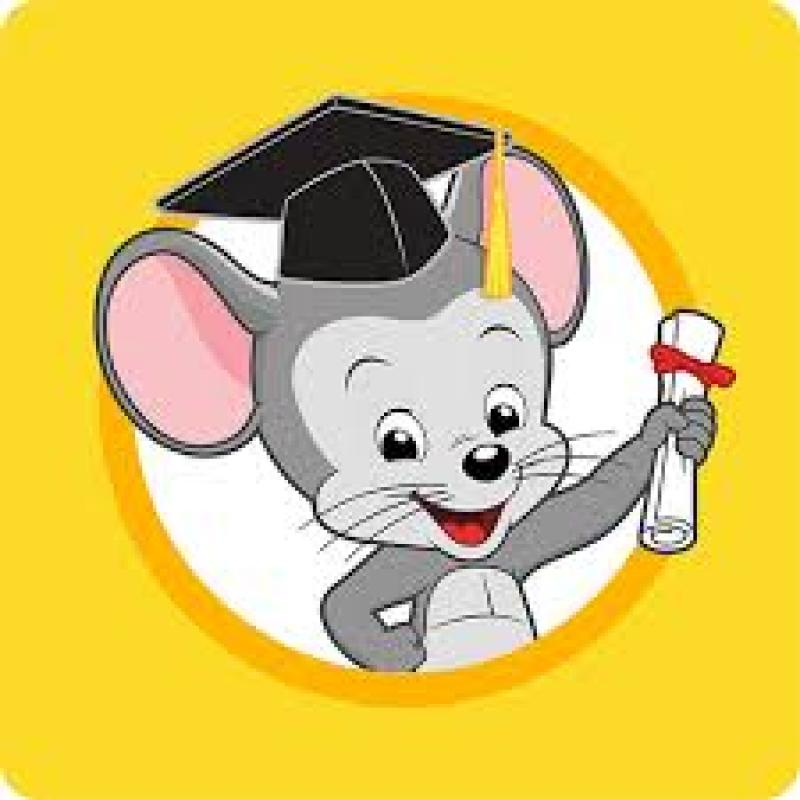 mouse in a graduation cap with a diploma